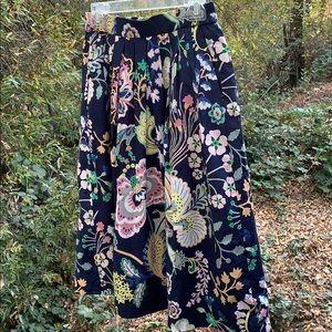 J Crew Patio floral cotton midi skirt